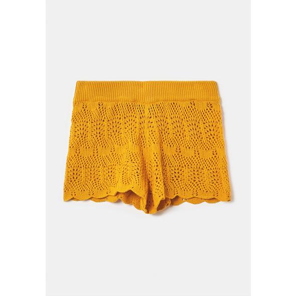 Shorts aus Häkeln-Strick
