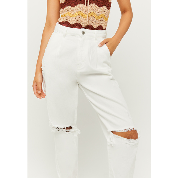 High Waist Ripped Slouchy Jeans