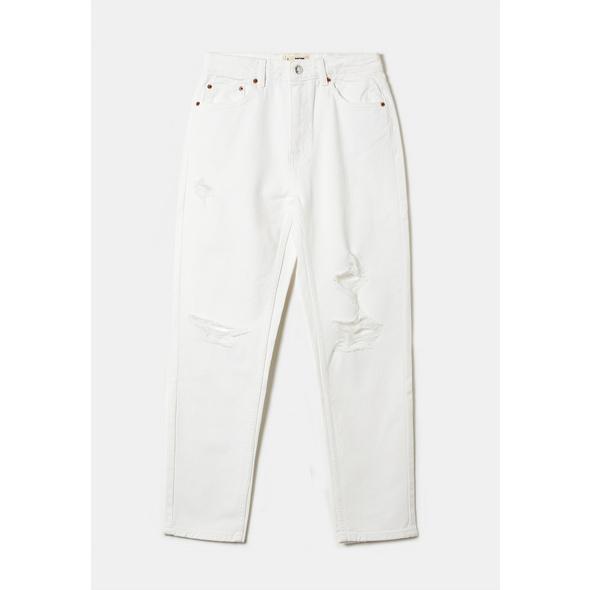 High Waist Distressed Mom Jeans