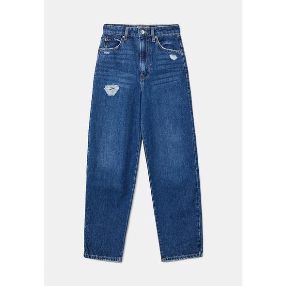 High Waist Mom Destroy Jeans