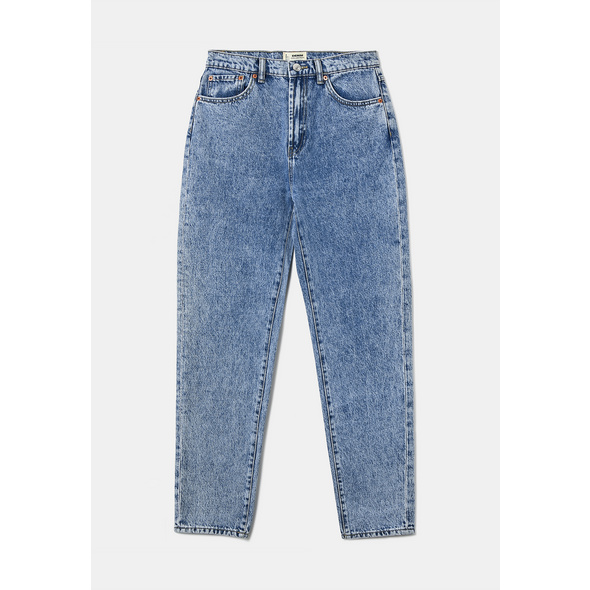High Waist Tapered Jeans