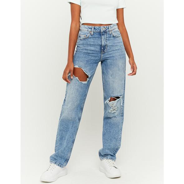 High Waist Straight Jeans