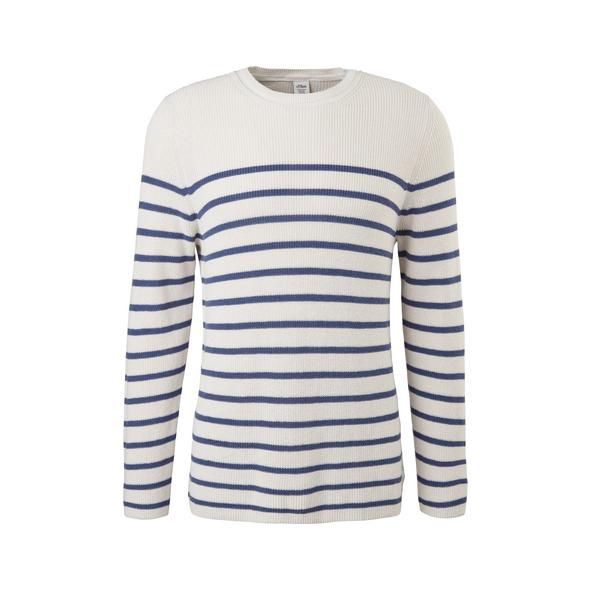 Strickpullover mit Streifen - Pullover