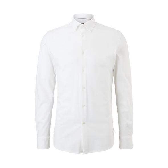 Slim: Hemd aus Baumwollpiqué - Hemd