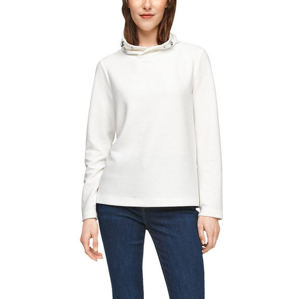 Sweatshirt mit Schalkragen - Sweatshirt