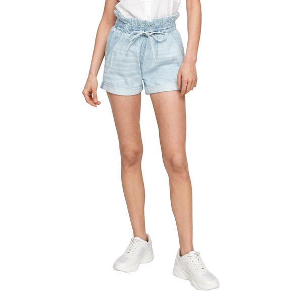 Regular Fit: Shorts aus Baumwolle - High Waist-Jeans