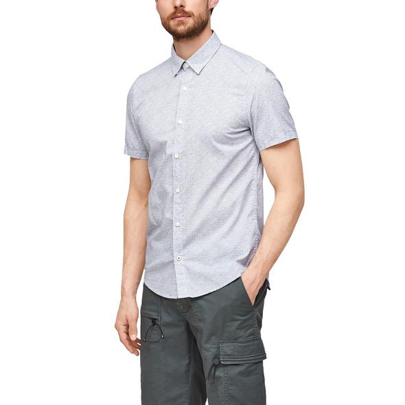 Slim Fit: Gemustertes Kurzarmhemd - Kurzarmhemd