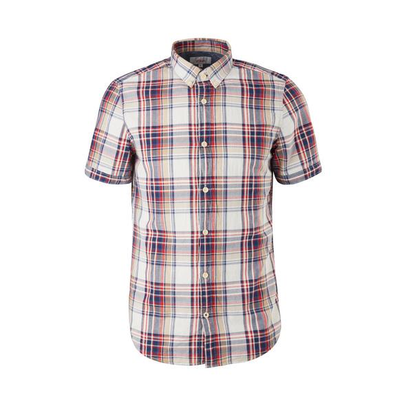Slim Fit: Hemd aus Hanfmix - Kurzarmhemd
