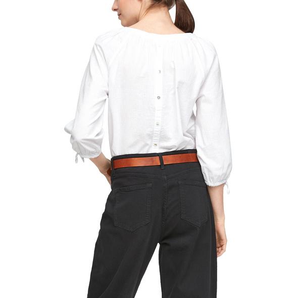 Struktur-Bluse aus Baumwolle - Bluse