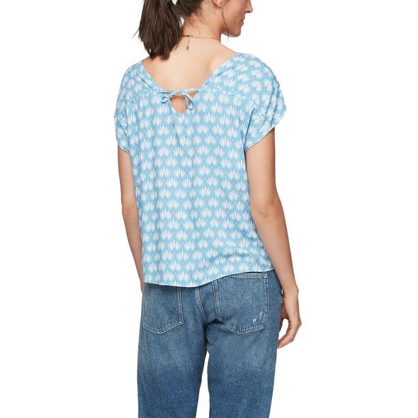 Bluse mit Rückenausschnitt - Viskosebluse