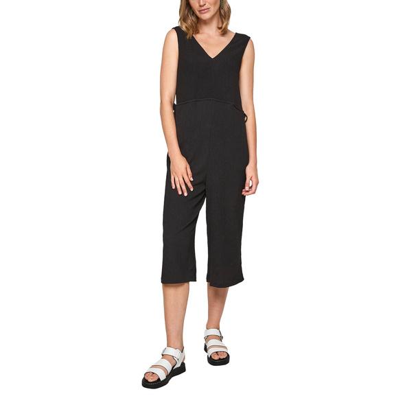 Culotte-Jumpsuit mit Crinkle-Struktur - Overall