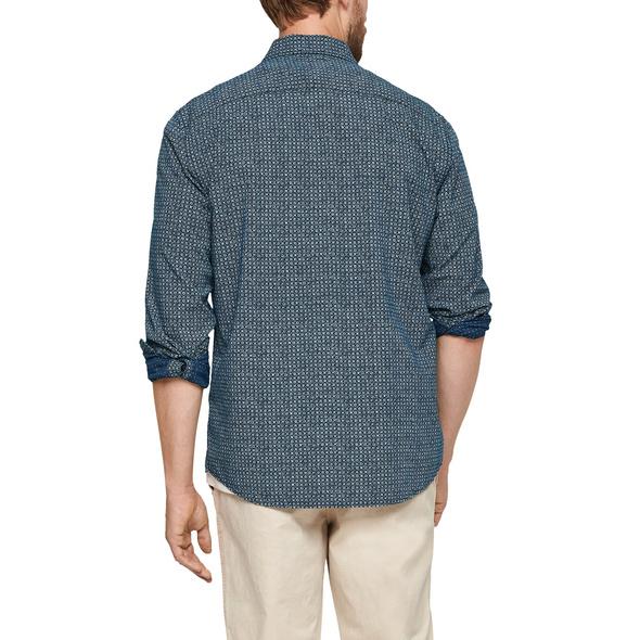 Regular: Gemustertes Hemd - Baumwollhemd