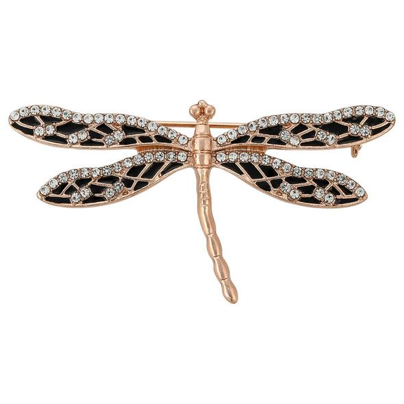 Brosche - Rosé Dragonfly