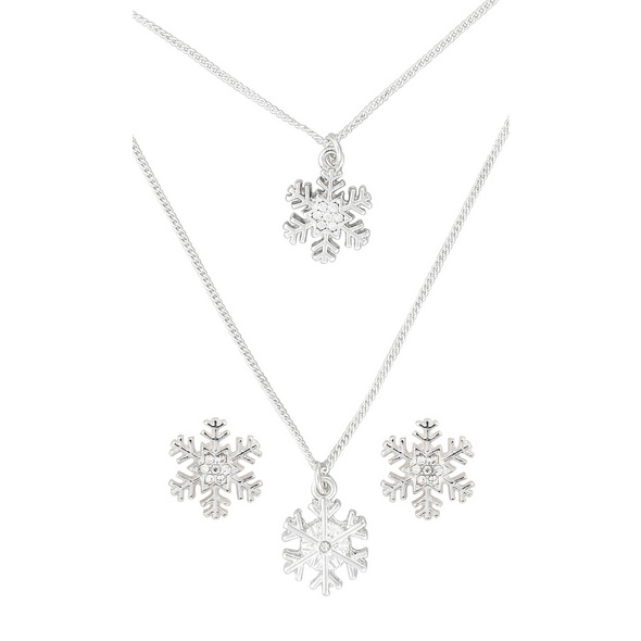 Set - Silver Crystals