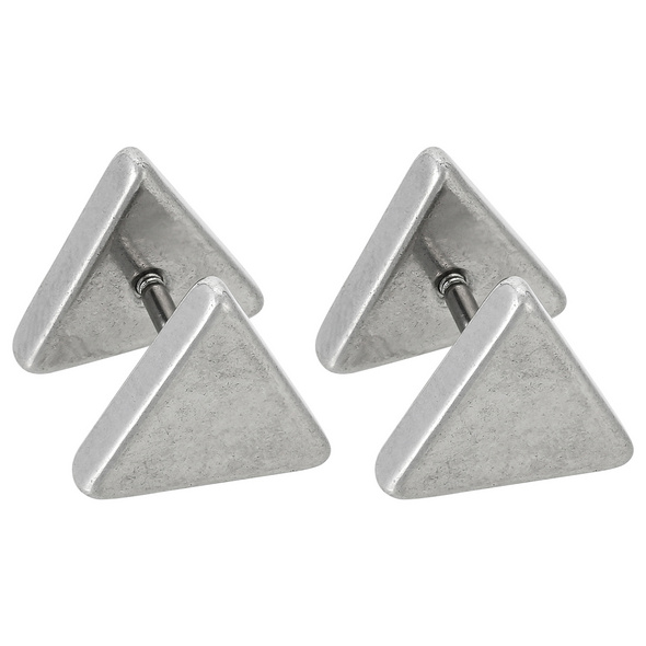 Herren Ohrstecker - Silver Triangle
