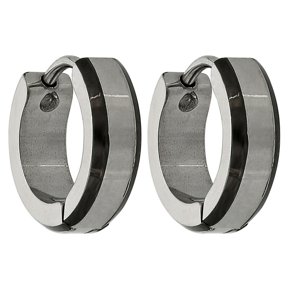 Herren Creolen - Simple Steel