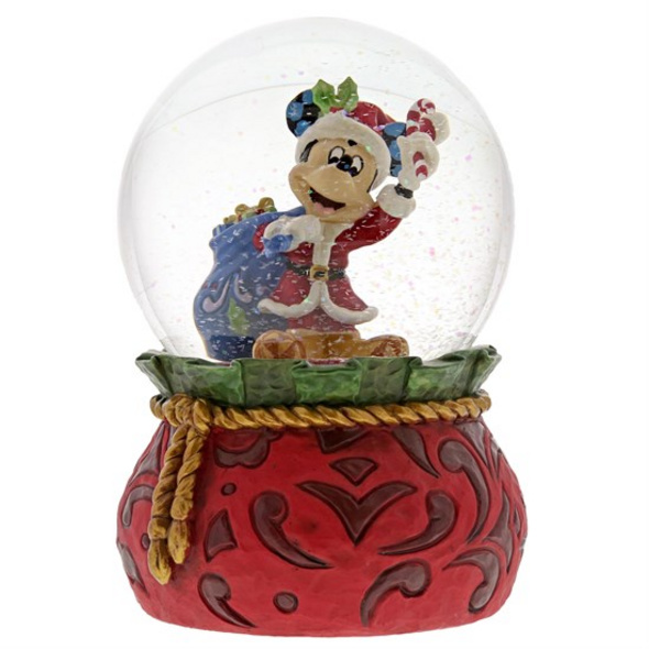 Disney Mickey Mouse - Schneekugel Santa Mickey