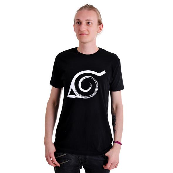 Naruto - Konoha T-Shirt schwarz