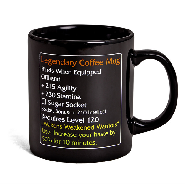 Legendary Coffee Mug - MMO Item Fan Tasse Level 120
