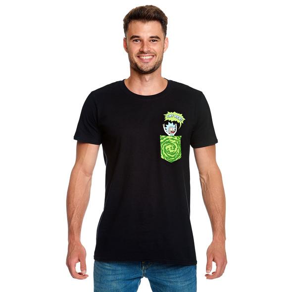 Rick and Morty - Tiny Pocket Rick T-Shirt schwarz