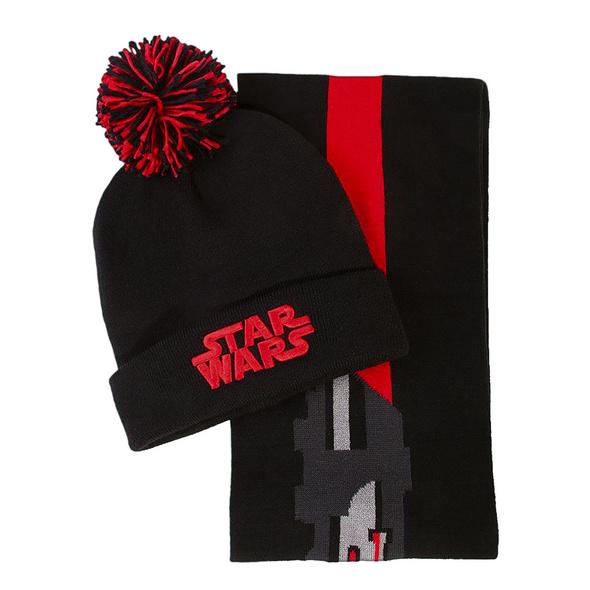Star Wars - Darth Vader Mütze und Schal Geschenk Set
