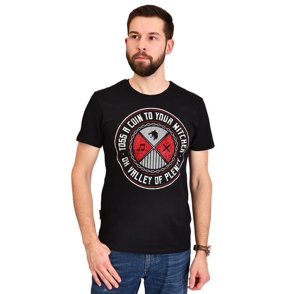 Toss a Coin T-Shirt für Witcher Fans schwarz