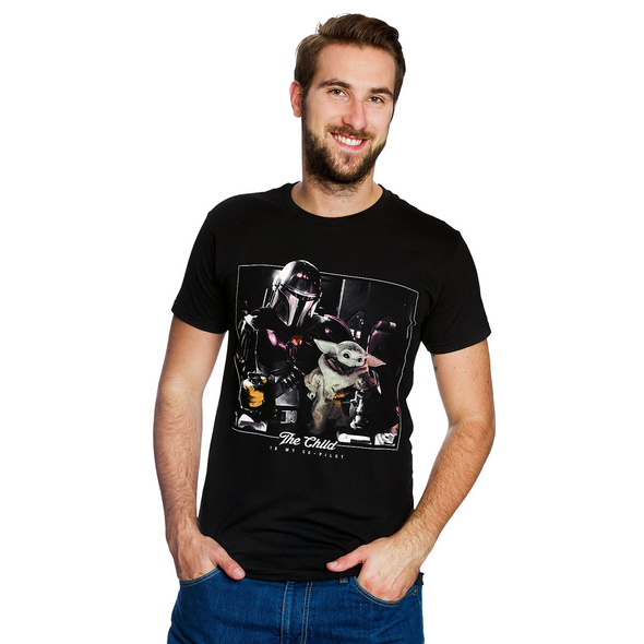 The Child is My Co-Pilot T-Shirt schwarz - Star Wars The Mandalorian
