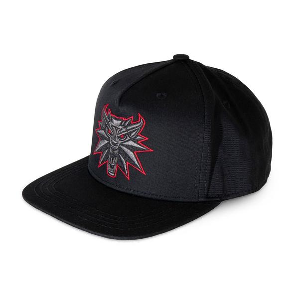 Witcher - Black Wolf Medaillon Snapback Cap