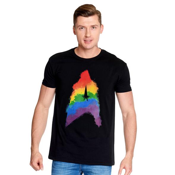 Star Trek - Rainbow Logo T-Shirt schwarz