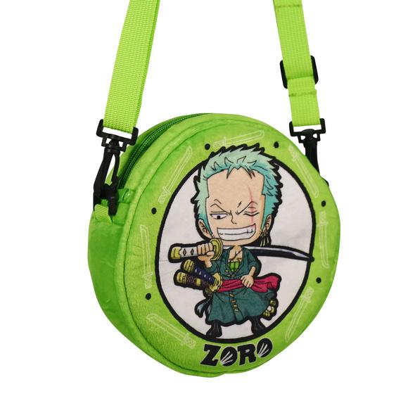 One Piece - Zoro Plüsch Umhängetasche grün