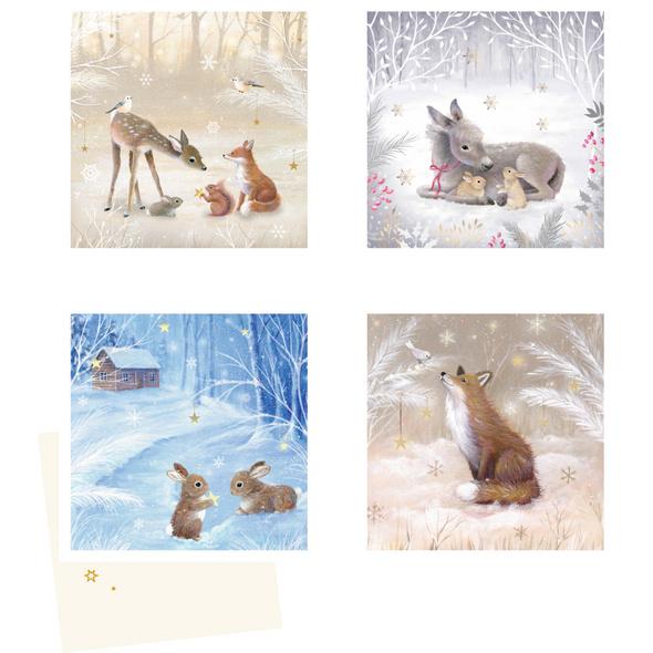 Mini-Adventskalender-Sortiment - Winterzauber