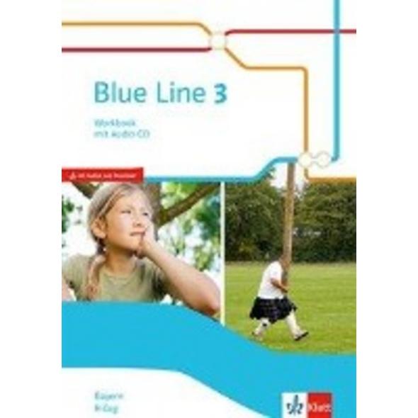 Blue Line 3 R-Zug. Workbook mit Audio-CD Klasse 7.
