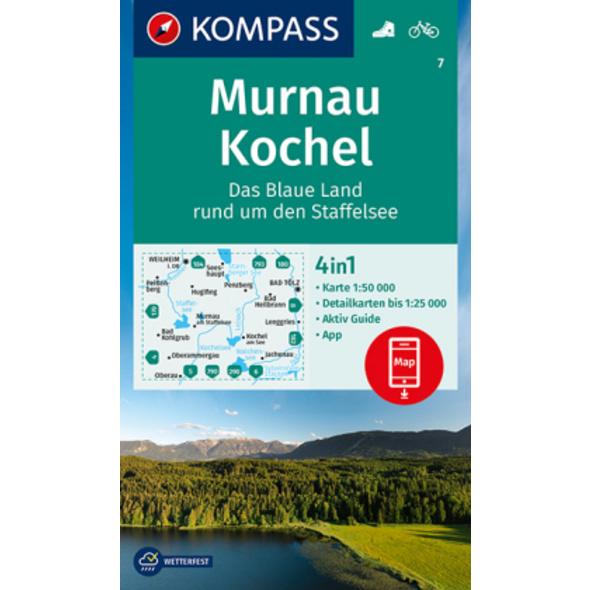 KOMPASS Wanderkarte Murnau - Kochel - Das blaue La