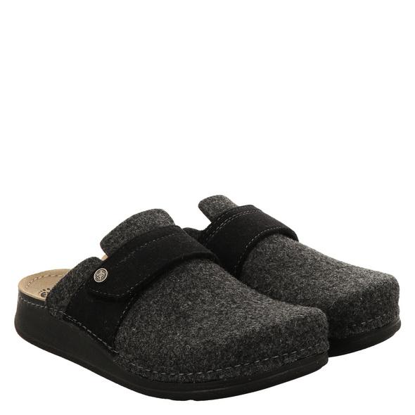 Mubb Fußbettschuhe grau Damen