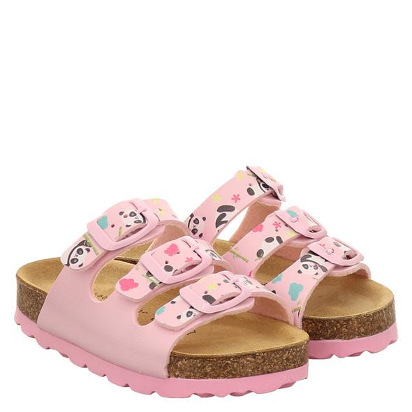 Lieblingspaar 3 Schnaller Pantoletten rosé Mädchen
