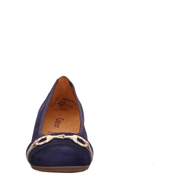 Gabor (gr. 5½) Ballerina blau Damen