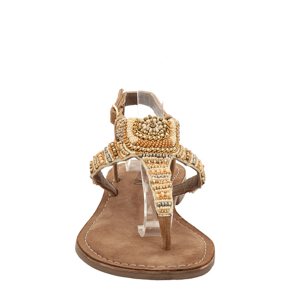 Lazamani Beige Sandaletten braun Damen