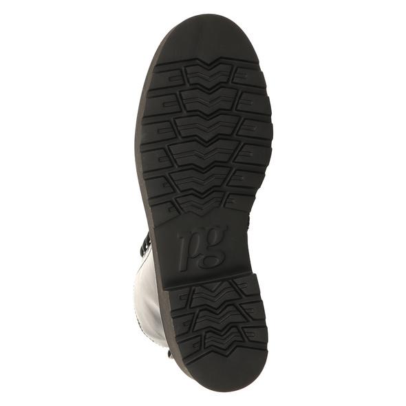 Paul Green 0069-9820-009/schnürstiefelett Stiefel Kurz schwarz Damen