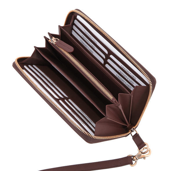 Klatta Offermann Portmonee Damen Zip Purse maroon brown