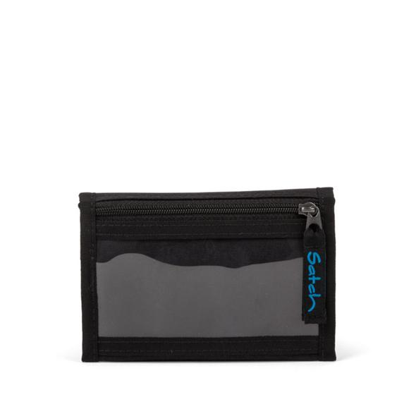 Satch Klettverschlussbörse Wallet Black Bounce II
