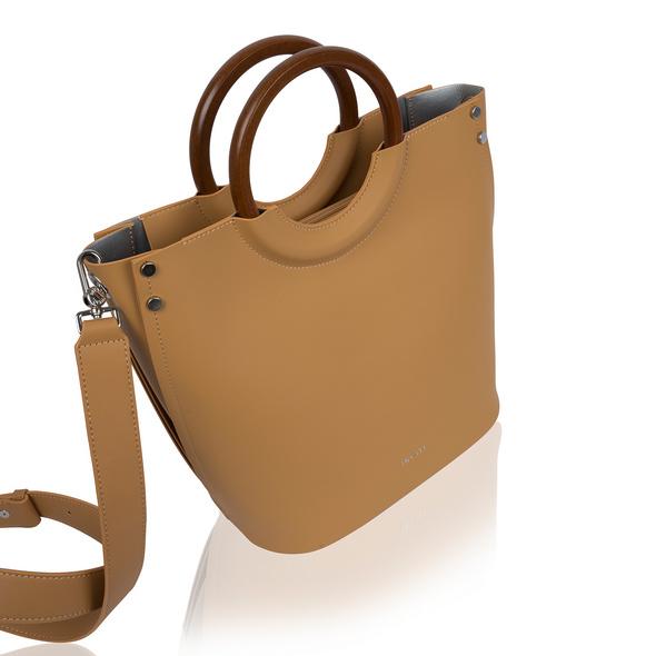 Inyati Kurzgriff Tasche Viviana camel