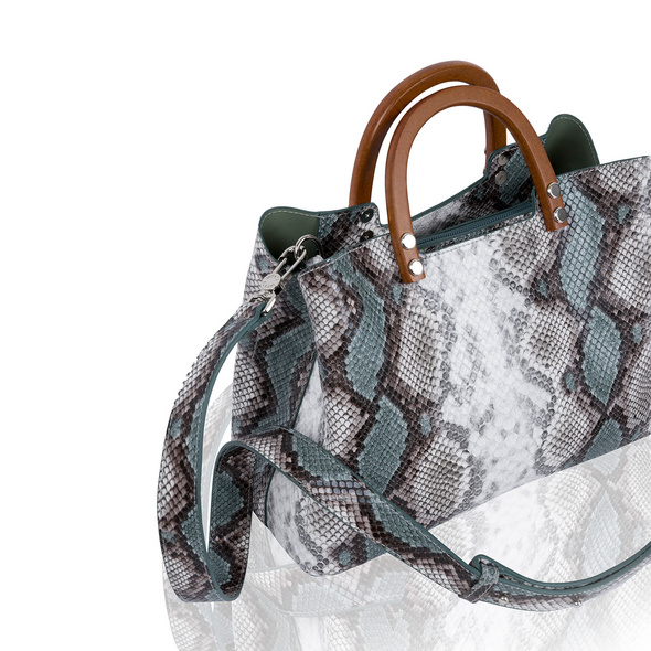 Inyati Kurzgriff Tasche Inita green snake