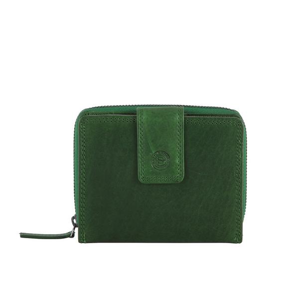 Sattlers & Co. Hochkantbörse Damen Keilir grün