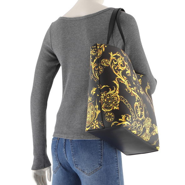 Versace Jeans Couture Shopper Range Z Reversible black