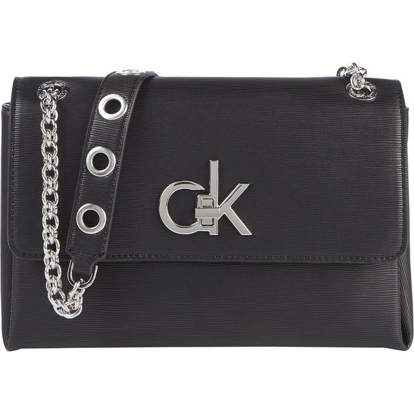 Calvin Klein Umhängetasche EW Conv Flap XBody MD Eyelets schwarz