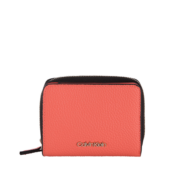 Calvin Klein Hochkantbörse Damen Sided Ziparound MD W Flap coral