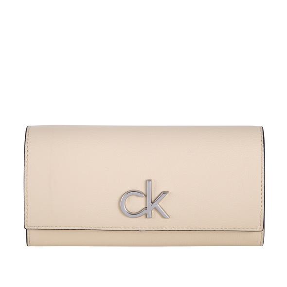 Calvin Klein Überschlagbörse Damen Re-Lock Trifold Wallet LG light sand
