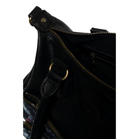 Desigual Kurzgriff Tasche Black Paper negro