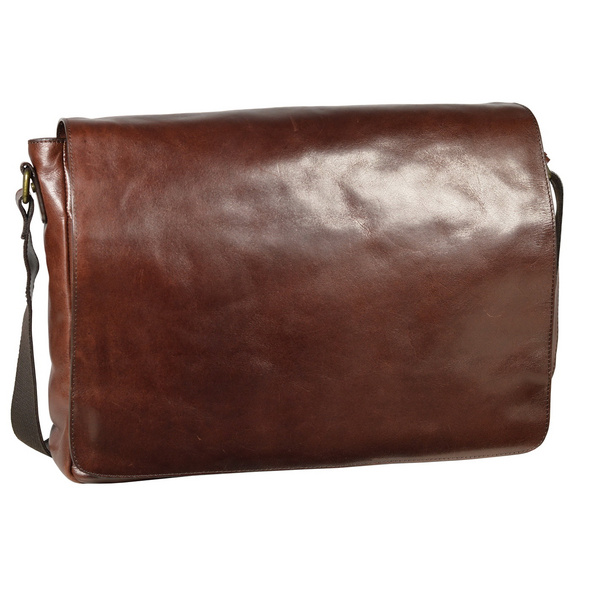 Leonhard Heyden Messenger Bag Cambridge L 5255 rotbraun