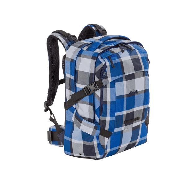 4You Schulrucksack Tight Fit 26l blue Squares